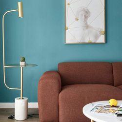 Freya Gold x Marble Floor Lamp