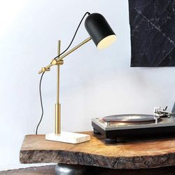 Carnegie Modern Table Lamp with Marble Base