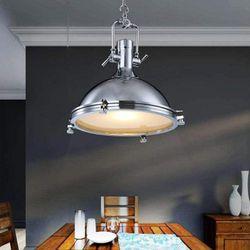 Larson Industrial Chrome Pendant Light