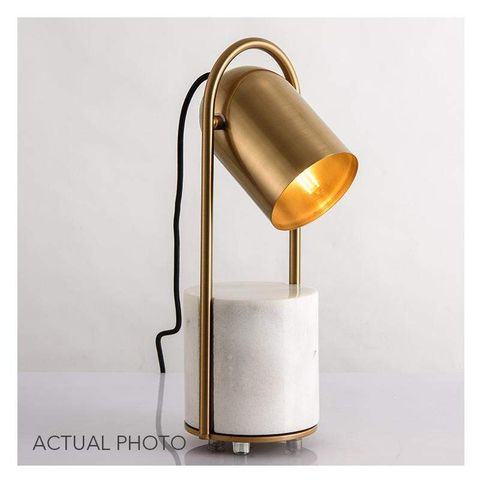 Bowery Modern Table Lamp with Marble Base