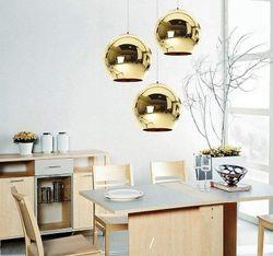 Luna Gold Mirror Pendant Light