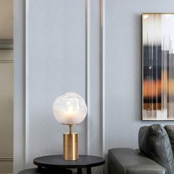 Aesir Modern Table Lamp with Brass Base