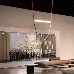 Hermes Leather Belted LED Pendant Light