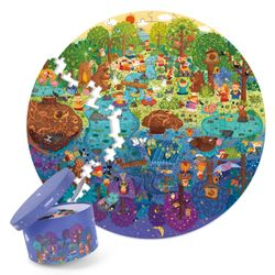Mideer A Day In The Forest Round Puzzle (150pcs)