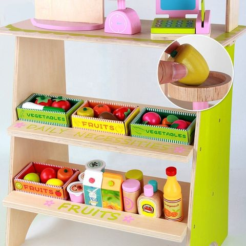 Tots Depot Wooden Grocery Booth