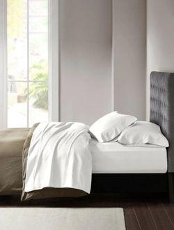 Pershella White Solid Microfiber Pillowcase