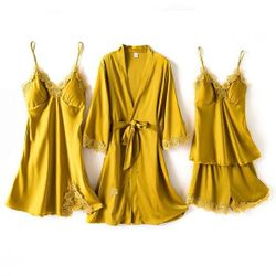 Pershella Sunshine Silk Robe Sets