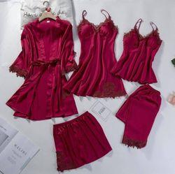 Pershella Rose Silk Robe Sets