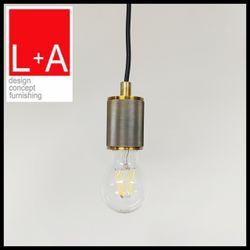 LT-AHA018J gold antique brass E27 lamp holder black wire
