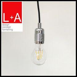 LT-AHA054 chrome E27 lamp holder black wire