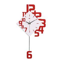 Metal Home Decorative Art Modern Wall Clock w/Pendulum