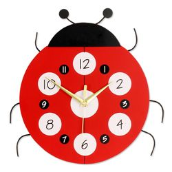 Kids Room Decorative Art Modern Ladybug Wall Clock