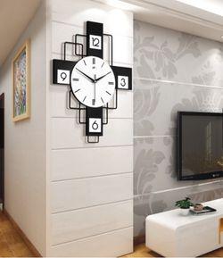 Metal Home Decorative Geometric Art Modern Wall Clock