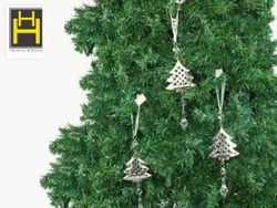 Harmony & Homes Ornaments - 20cm Metal X-Mas Tree Ornament w/ Acrylic Dew-Drop 1-Piece/Pack Set of 3