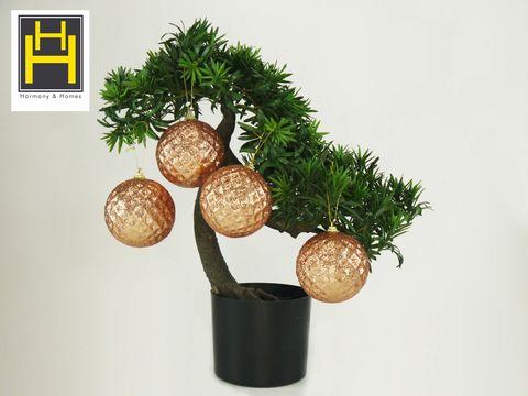 Harmony & Homes 10cm Copper X-Mas Golf Ball