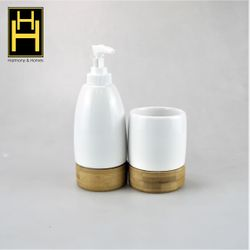 Harmony & Homes Ceramic Bathroom Accessories (Set of 2)