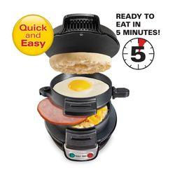 Hamilton Beach Breakfast Sandwich Maker-Black
