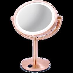 Vanitibasics 8'' Double-Sided Super Bright LED Mirror with Rose Gold Finish