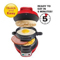 Hamilton Beach Breakfast Sandwich Maker-Red