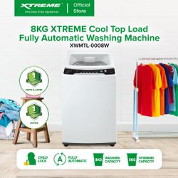 XTREME COOL 8.0kg Top Load Fully Automatic Washing Machine (XWMTL-0008W)