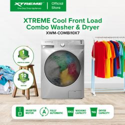 XTREME COOL Frontload Combo Washer & Dryer (XWM-COMBi10x7)