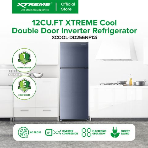 XTREME COOL 12.0cu ft. Double Door Inverter Refrigerator (XCOOL-DD256NF12I)