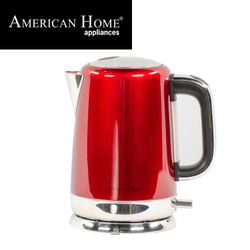 American Home AK-1600R Stainless Steel Kettle 1600 Color Red