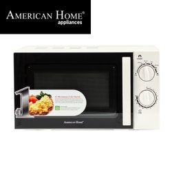 American Home AMW-20MCW Microwave Oven 20L Mechanical Control Color White
