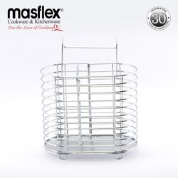Masflex Oval Cutlery Rack  L16.2 cm x W8.4 cm x H18.5 cm It helps to keep your kitchen area clean and tidy