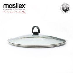 Masflex 26 cm Tempered Glass Lid  L 26 cm x W 26 cm x H 6.6 cm