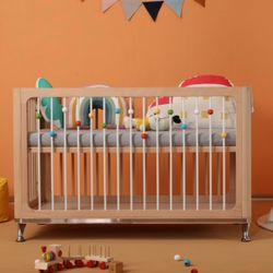 AIDEN 6 in 1 Convertible Wooden Crib