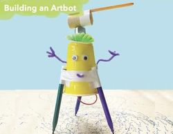 Build An Art Bot On-the-Go Activity Box for Kids