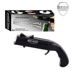 Beer Armor Cap Gun Bottle Opener, Beer Bottle Cap Gun Toy Gun, Bottle Cap Shooter Launcher, Creative Cap Gun