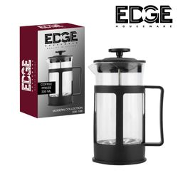 French Coffee Press 800 Espresso and Tea Maker with  Filters, Stainless Steel Plunger and Heat Resistant Borosilicate Glass - Black