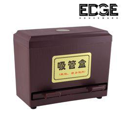 Edge Houseware 2Fold Supply Stainless Steel Straw Dispenser - For Bulk Unwrapped Drinking Straws holder for restaurant - Plastic