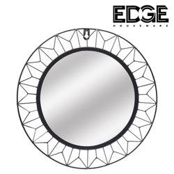 Decorative Black Geometric Metal Frame Hanging Wall Mirror metal Framed Wall Mounted Deco