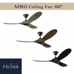 "Aero Gray Black Brown Ceiling Fan 60"""