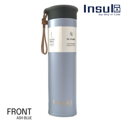 Insul8 Double-Wall Insulated Bottle with PU Leather Strap (500ml)