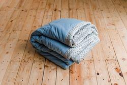 kun-kun Fluff Blanket Set (Fluff Blue)