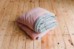 kun-kun Fluff Blanket Set (Fluff Pink)
