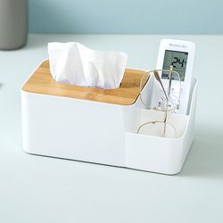 Emily Tissue Box with Side Storage