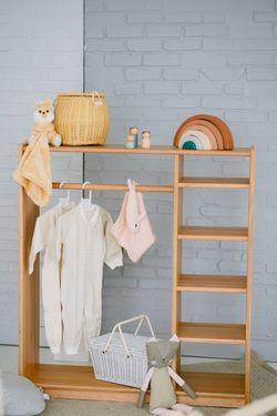 PRE-ORDER Mahogany Open Wardrobe for Kids
