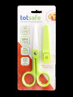 Totsafe Ceramic Food Scissors (Green)