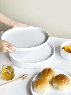 "Simpli Premium Melamine Dishware - Dinner Plate/Serving Tray Set 11"" 4s"