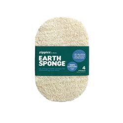 Zippies Earth Sponge Scrubber (4s)