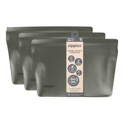 Zippies Steel Grey Reusable Standup Storage Bags XXL (3s)