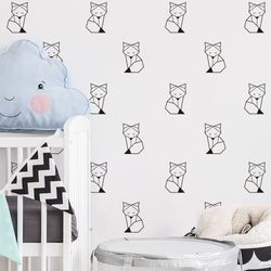 Foxy Baby Peel and Stick DIY Wall Decals 24pcs
