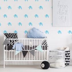 The Elephant Life Peel and Stick DIY Wall Decals 36pcs