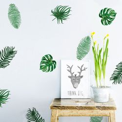 Tropical Calm Peel and Stick DIY Wall Decals 24pcs